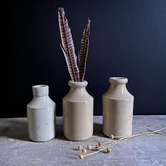 Lovely Set of 3 Stoneware Bottles