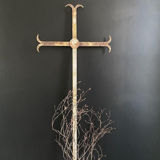 Large Blacksmith Made Metal Cross