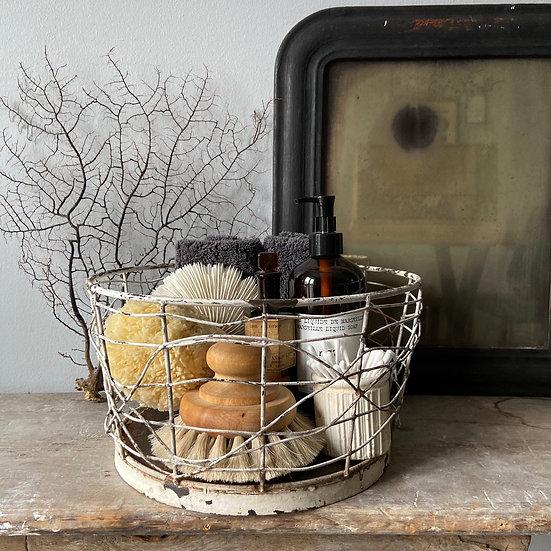 Large Rustic Vintage Brocante Style Wire Basket