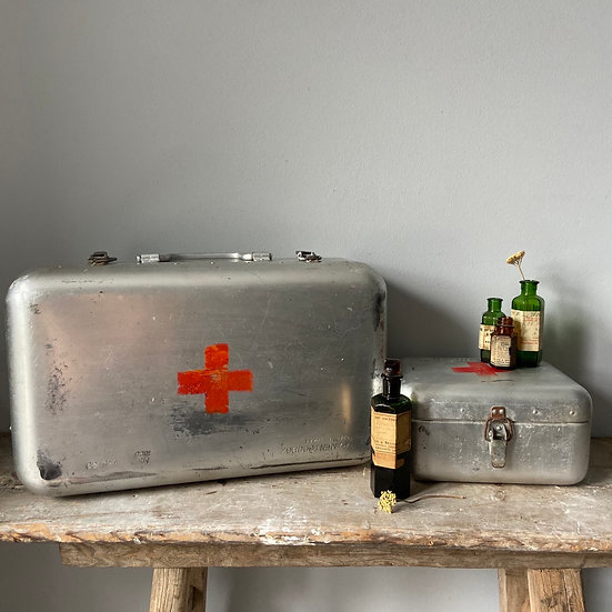 Large Vintage Hungarian Military First Aid Box