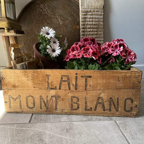 Vintage Wooden French Milk Delivery Crate #2