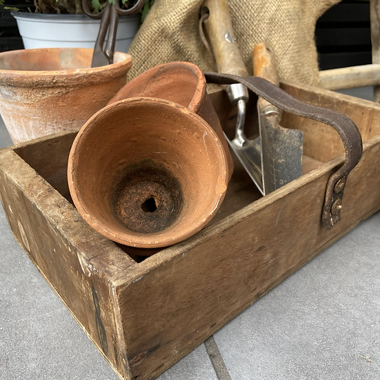 Shallow French Vintage Tool Tray