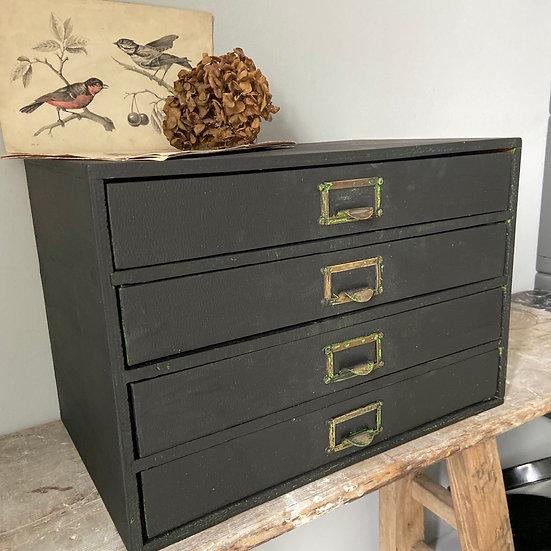 Black Vintage 4 Filing Drawer set