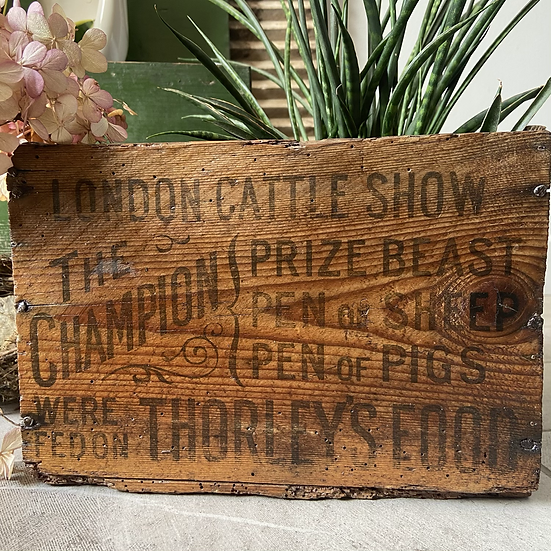 Rare Vintage Cattle Show Crate