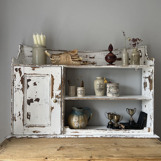 Large French Cupboard and Shelf.
