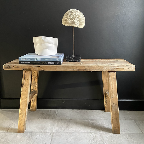 Two Seater Rustic Elm Bench/Coffe Table #2