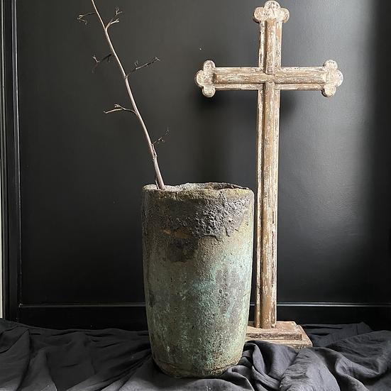 Large Vintage Genuine Foundry Stone Crucible