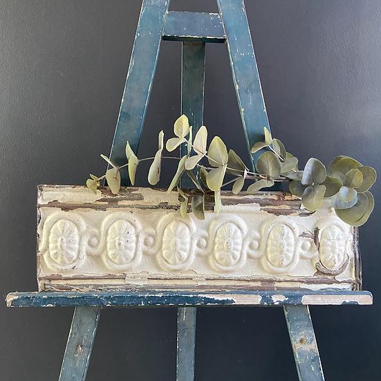 Vintage Chippy Paint Tin Tile Frieze #3