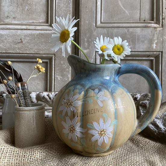 Pretty Little Hand Painted Vintage French Jug