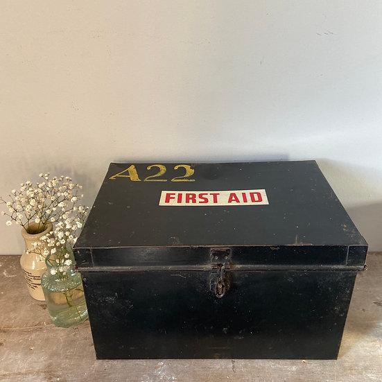 Black Vintage Metal Box