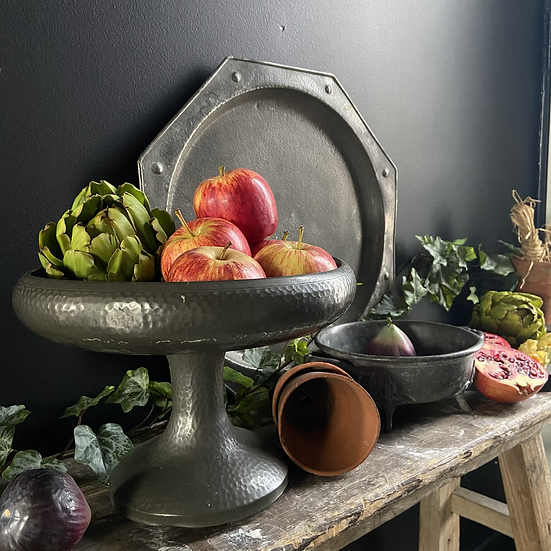 Pewter Pedestal Bowl From the Art Deco Period