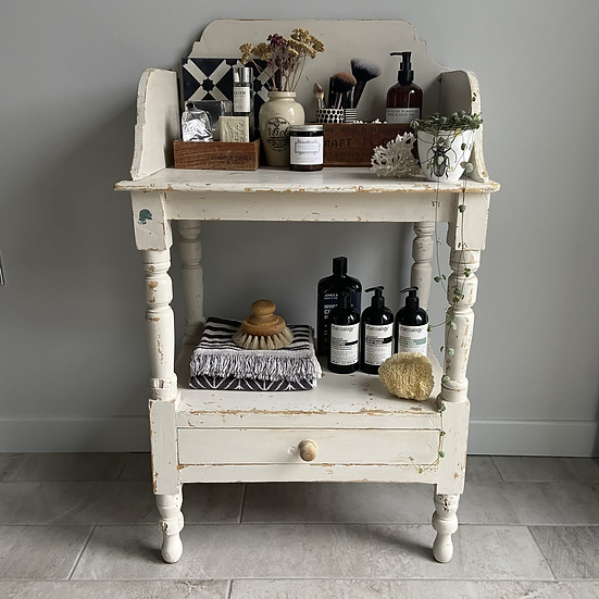 Vintage French Wooden Washstand