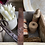 Thumbnail: Gorgeous Rustic Vintage Wood and Metal Trug with Leather Handle