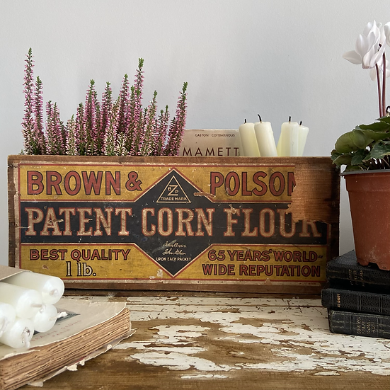 Vintage Brown and Poulson Delivery Crate