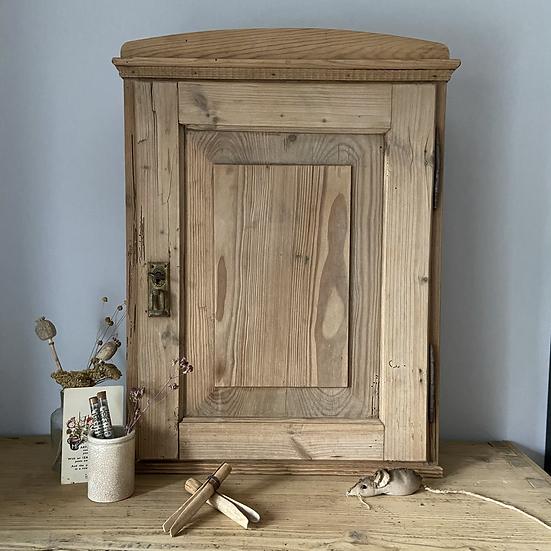 Rustic Antique Pine Wall Cupboard