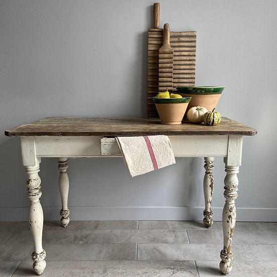 Stunning Small French Kitchen Table