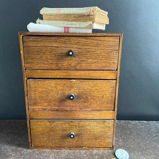 Vintage Wooden Confectioners Drawers