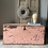 Thumbnail: Beautiful Vintage Pink Chippy Paint Trunk