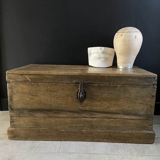 A Lovely Antique Medium Sized Pine Trunk
