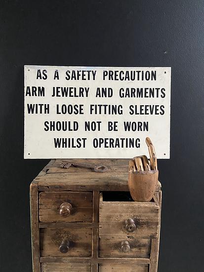 Vintage Safety Sign