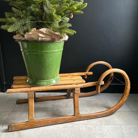Larger Vintage Wooden Sledge