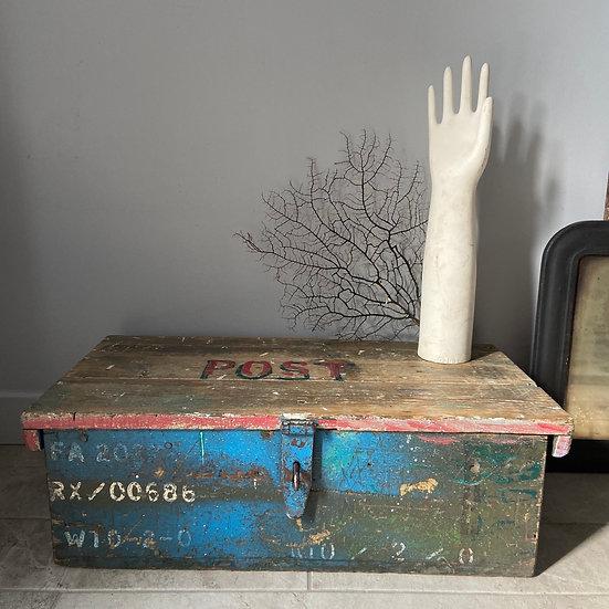 Unique Vintage Rustic Wooden Trunk
