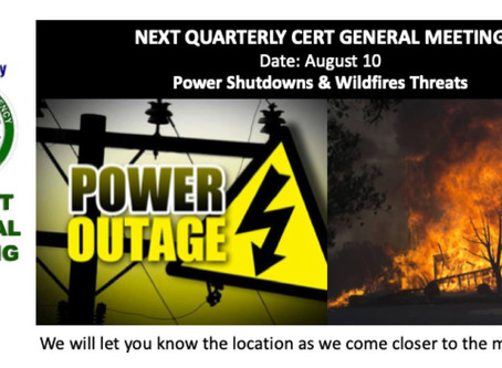 BB CERT General Meeting: Electricity Alternatives During Outages & Power Line Safety