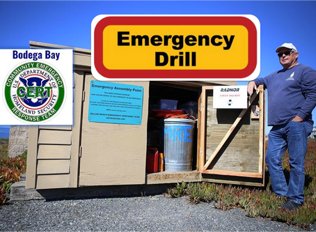 October 4th Bodega Bay CERT Practice Drill, Emergency Preparedness