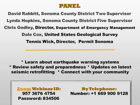 Sonoma Ready Virtual Town Hall October 29th 5:30-7pm