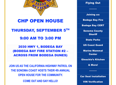 CHP 4th Annual Open House happening on SEP 5