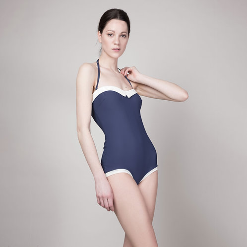 Retrostyle swimsuit TEODORA with inlay for cups