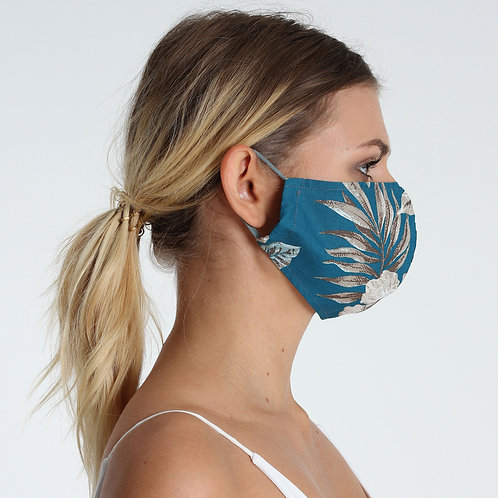 Cotton Face Mask Tropical Style 100% Cotton Hawaian Print