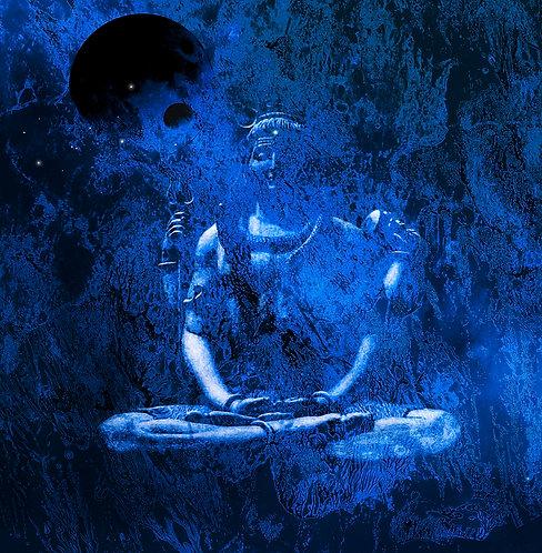 Gemälde Sven Joerg Hansen, abstrakt, Kunstdruck, surreal, llyrisch, shiva, hinduismus