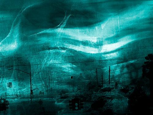 Gemälde Sven Joerg Hansen, abstrakt, Kunstdruck, surreal, llyrisch, Ragnarök
