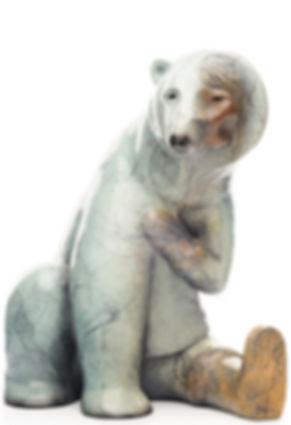 polar bear sculpture, alaska native art