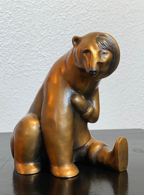 Small Woman Transforming into Bear