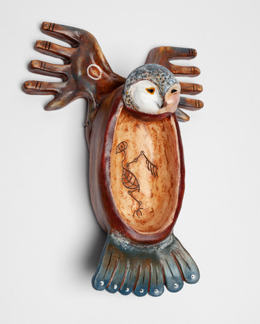 Owl Landing Hanging Bowl (photo 2)