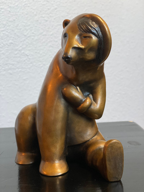 Small Woman Transforming into Bear (Photo 2)