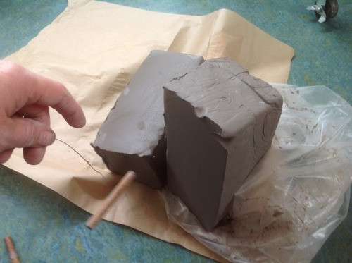 cutting clay