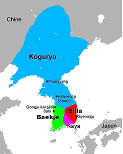 carte corée Trois royaume_Taewondo jonage