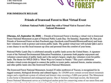 Friends of Ironwood Forest-National Public Lands Day Event