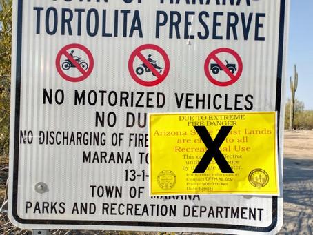 Alert!  Tortolita Preserve Now Open