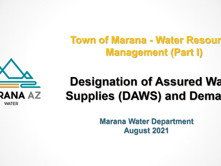 Water Woes VIII-Water Study Session Report Part A