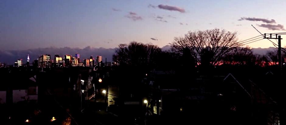 201215 冬の夕暮れ