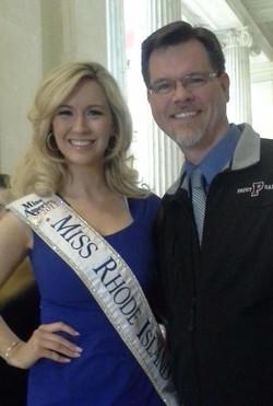 Jessica Marfeo and me at the RI State House