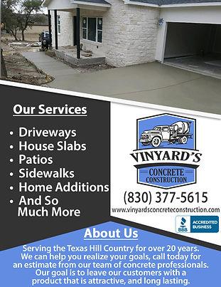 Vinyard's Concrete Construction Correcti
