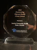 Sunrise Migrant Health Award jpg
