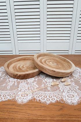 Plat à gâteaux en bois