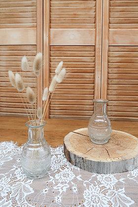 Vase rond à gravures