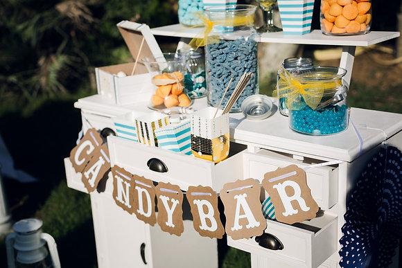 Lot bonbonnières pour Candy-Bar
